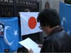 カンボジア大使館前 22人のウイグル人強制送還撤回を求めるアクション