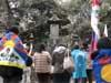 2009年12月27日 聖地チベット展 今年最後の世界平和巡礼/今後の抗議予告